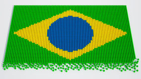 Brasilianska fotbollbollar för världscup Arkivbild