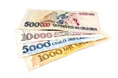 Brasilianska gamla pengar royaltyfria bilder