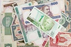 Brasilianska gamla pengar fotografering för bildbyråer