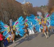 brasilianska karnevaldansare Arkivbilder