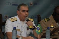 Brasilianska militära idrottsman nen segrade 75% av olympiska medaljer bland brasilianska idrottsman nen Arkivbild