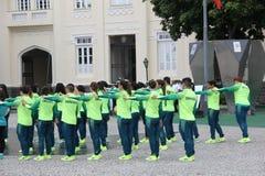 Brasilianska militära idrottsman nen segrade 75% av olympiska medaljer bland brasilianska idrottsman nen Fotografering för Bildbyråer