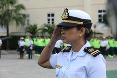 Brasilianska militära idrottsman nen segrade 75% av olympiska medaljer bland brasilianska idrottsman nen Royaltyfri Bild