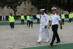 Brasilianska militära idrottsman nen segrade 75% av olympiska medaljer bland brasilianska idrottsman nen Royaltyfria Foton