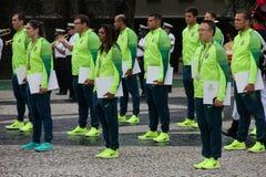 Brasilianska militära idrottsman nen segrade 75% av olympiska medaljer bland brasilianska idrottsman nen Royaltyfri Fotografi