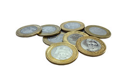 brasilianska mynt Royaltyfria Foton