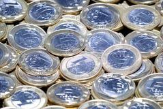 brasilianska mynt Arkivbilder