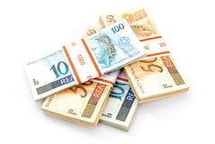 brasilianska pengar royaltyfri fotografi
