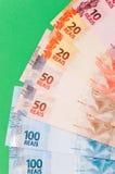 Brasilianska pengar arkivbilder