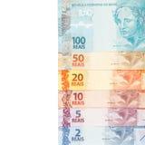 brasilianska pengar Royaltyfria Bilder