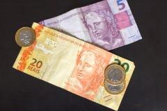 brasilianska pengar Royaltyfria Foton
