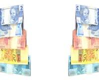 brasilianska pengar Fotografering för Bildbyråer