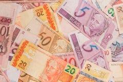 brasilianska pengar Mycket verkliga anmärkningar Royaltyfri Fotografi