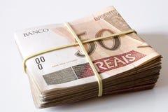 Brasilianska pengar - 50 Reais Arkivbilder