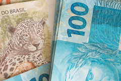 Brasilianska pengar, reais som högt är nominella, framgångbegrepp Royaltyfria Bilder