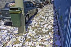 Brasilianska val 2012 - smutsig stad Royaltyfri Bild