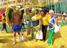 brasilianska ventilatorer Royaltyfria Bilder