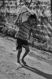 brasilianskt barnarbete arkivfoto