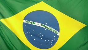 Brasilianskt blåsa för flagga arkivfilmer