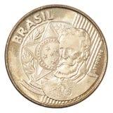 Brasilianskt centavosmynt Arkivfoto