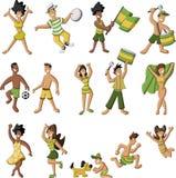 Brasilianskt folk som har gyckel vektor illustrationer