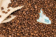 Brasilianskt kaffe/affärsidé royaltyfria foton