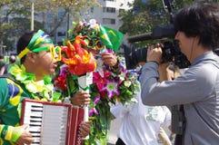 Brasilianskt massmedia och buskers arkivbilder