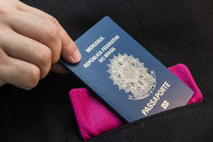 Brasilianskt pass Royaltyfria Foton