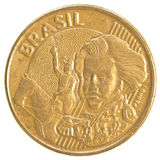 10 brasilianskt verkligt centavos mynt Arkivbild