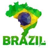 Brasilien översiktsflagga Arkivbild