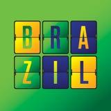 Brasilien-Anzeigetafel. Stock Abbildung