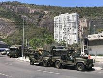 Brasilien armé som stänger tillträden till Rocinha Arkivfoto