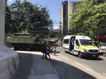 Brasilien armé som stänger tillträden till Rocinha Royaltyfri Fotografi