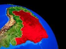 Brasilien auf Planet Erde vektor abbildung