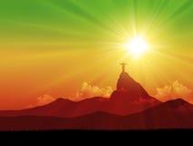 Brasilien bakgrund Royaltyfri Illustrationer