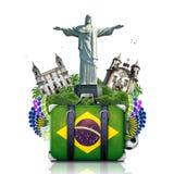 Brasilien Brasilien gränsmärken Royaltyfria Bilder