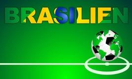 BRASILIEN - el BRASIL, en lengua alemana Foto de archivo libre de regalías