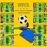 Brasilien för fotbollturneringschema vektor 2014 Royaltyfri Bild