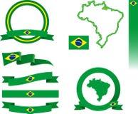 Brasilien-Fahnen-Satz Lizenzfreie Stockfotografie