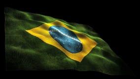 Brasilien flagga stock illustrationer