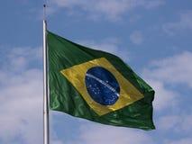 Brasilien flagga Royaltyfri Bild