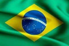 Brasilien flaggaillustration stock illustrationer