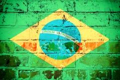 Brasilien-Flagge Lizenzfreies Stockfoto