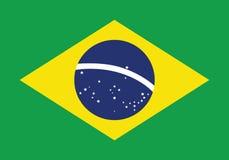 Brasilien-Flaggen-flache Vektor-Illustration Rio de Janeiro Stockbilder