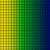 Brasilien-Flaggen-Quadrat-Gelb-grün-blauer Hintergrund Lizenzfreie Stockbilder