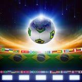 Brasilien fotboll 2014 Fotografering för Bildbyråer