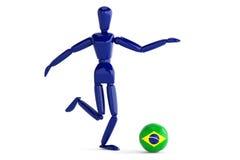 Brasilien fotboll Arkivbilder