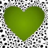 Brasilien 2014 fotbollbollar, hjärtaformillustration Fotografering för Bildbyråer