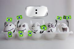 Brasilien fotbollmästerskap arkivfoto