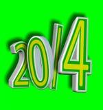 Brasilien fotbollår 2014! Royaltyfri Bild